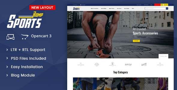 Sports Kit - OpenCart 3x Multipurpose Responsive Theme TFx