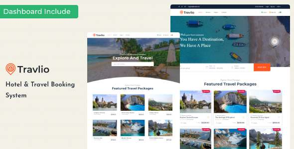 Travlio – Tour amp Hotel Booking HTML Template TFx