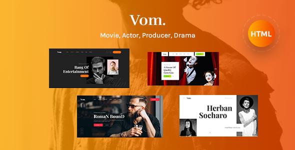 Vom - Multipurpose Film Maker HTML5 Template TFx