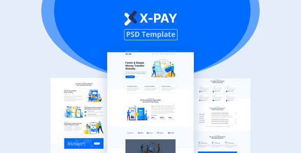 Xpay - Online Money Transfer amp Banking PSD Template TFx