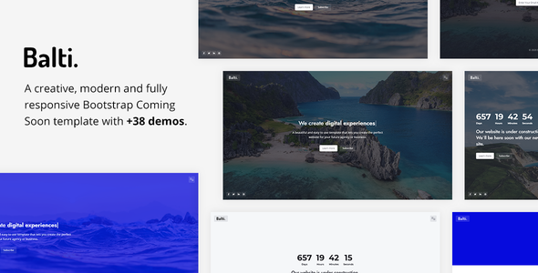 Balti - Bootstrap Coming Soon Template TFx