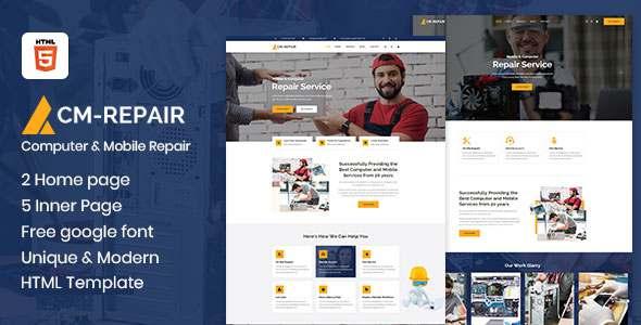 CM-Repair - Computer and Mobile Repair Store HTML Template TFx
