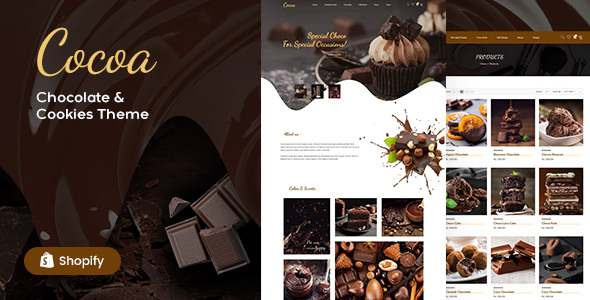 Cocoa – Chocolates Store Shopify Theme TFx