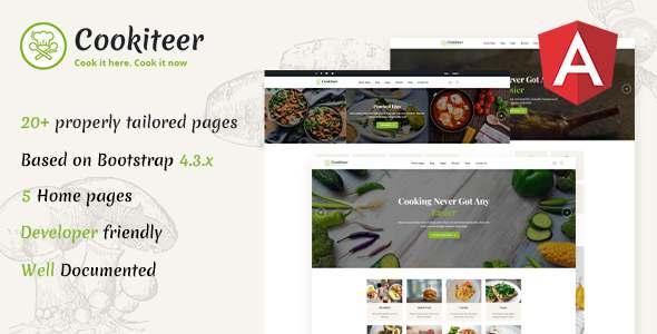 Cookiteer – Food amp Recipe Angular Template TFx