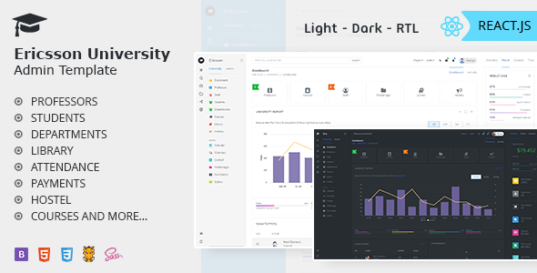 Ericsson React – Admin Template for University School amp Colleges TFx