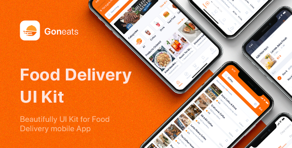 GonEats - Food Delivery UI Kit for Sketch TFx