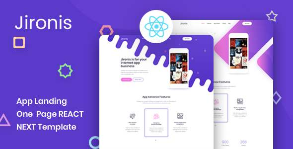 Jironis – React Next App Landing Page Template TFx
