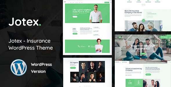Jotex - Insurance WordPress Theme TFx WordPress