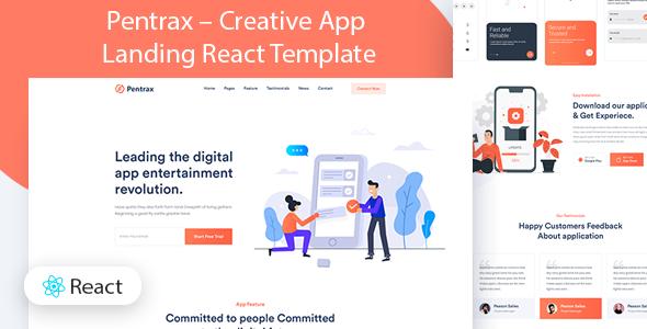 Pentrax – Creative App Landing Template TFx