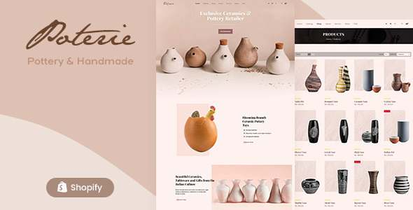 Poterie – Ceramic and Pottery Decor Shopify Theme TFx