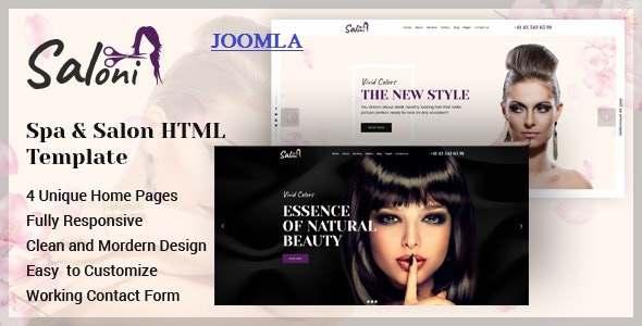 Saloni – Spa and Salon Joomla Template TFx
