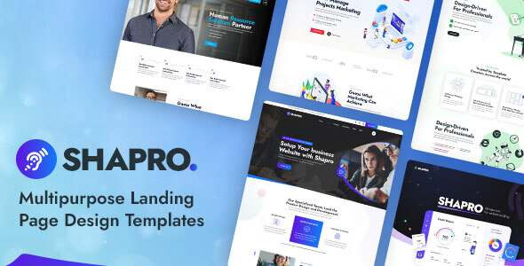 Shapro – Multipurpose Landing Page Design PSD Templates TFx