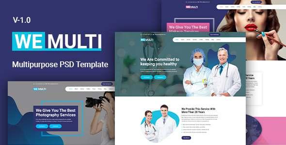 Wemulti - Multipurpose PSD Template TFx