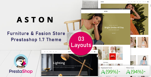 Aston - Fashion Ecommerce Prestashop Theme for Furniture amp Clothes TFx