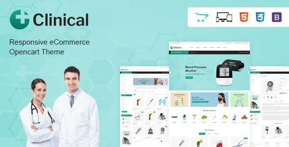 Clinical - Health Medical OpenCart Theme TFx