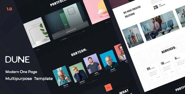 Dune – Modern One Page HTML Template TFx