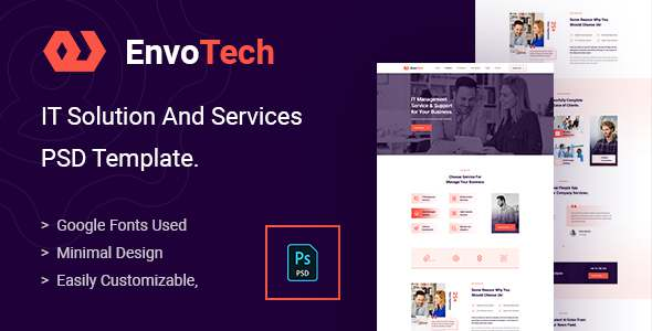 EnvoTech - IT Solution and Services PSD Template TFx