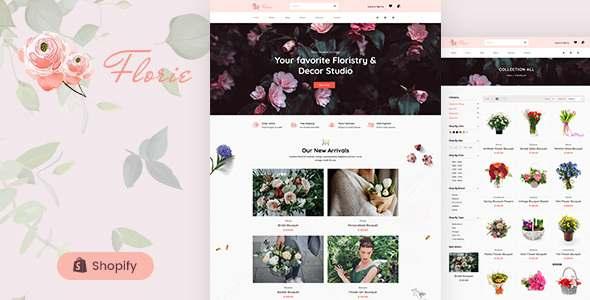 Florie - Florist and Flower Shop Shopify Theme TFx