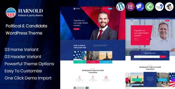 Harnold - Political Campaign WordPress Theme TFx