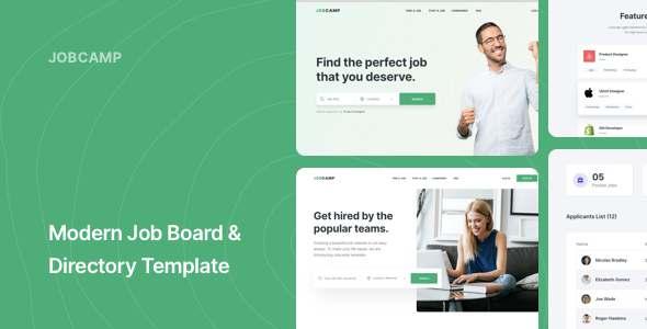 Jobcamp - Job Board amp Directory Responsive Template TFx