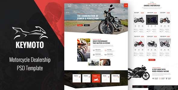 Keymoto - Motorcycle PSD Template TFx