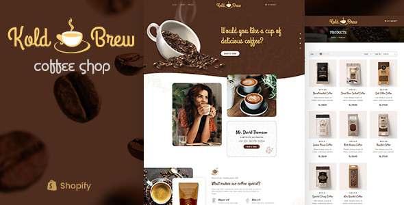 KoldBrew - Coffee Shop Shopify Theme TFx