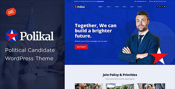 Polikal - Political Candidate amp Party Theme TFx
