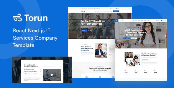 Torun - React Nextjs IT Services Company Template TFx