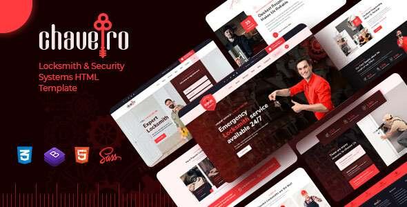 Chaveiro – Locksmith Business HTML5 Template TFx
