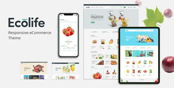 Ecolife – Organic Food Cosmetic amp Multipurpose Magento 2 Theme TFx