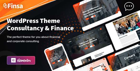 Finsa – Consulting amp Agency WordPress Theme TFx