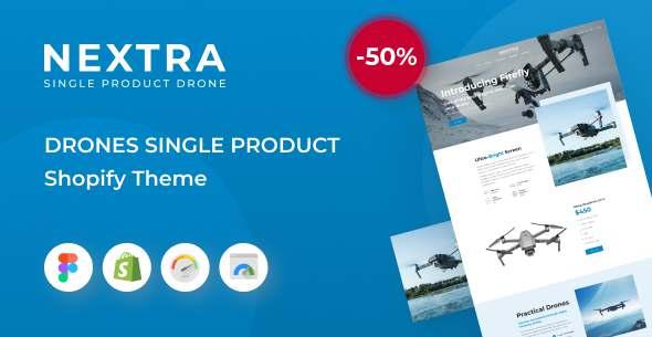 Nextra - Single Product eCommerce Shopify Theme Electronics Store TFx