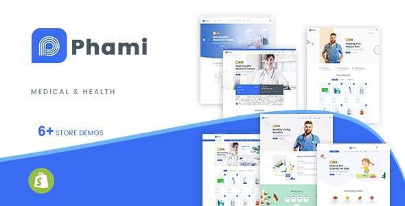 Phami  Medical amp Health Shopify Theme TFx