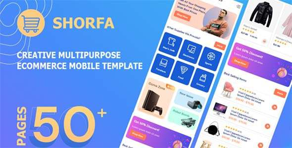 Shorfa – Multipurpose Ecommerce Mobile Template TFx