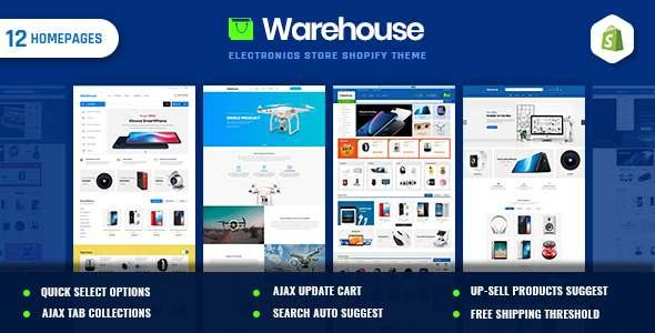 Warehouse  Electronics amp Multi-Purpose Shopify Theme TFx
