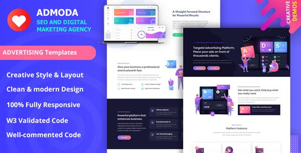 Admoda - SEO amp Digital Marketing Agency Template TFx