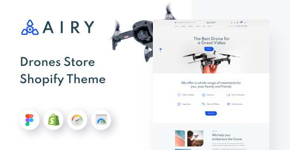 Airy - Drones Store Shopify Theme TFx Shopify
