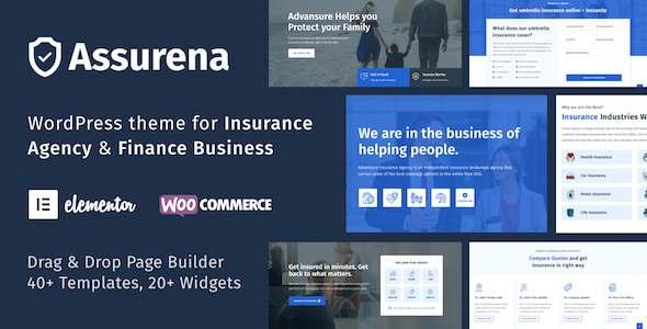 Assurena - Insurance Agency WordPress Theme TFx
