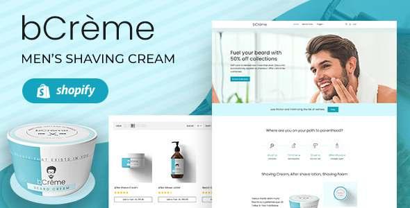BCreme - Shaving Cream amp Beard Oil Shopify Theme TFx