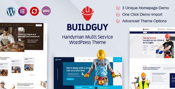 Buildguy – Handyman Services WordPress Theme TFx