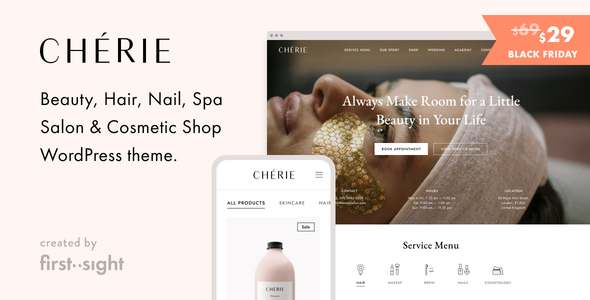 Chrie Beauty Salon WordPress Theme TFx WordPress