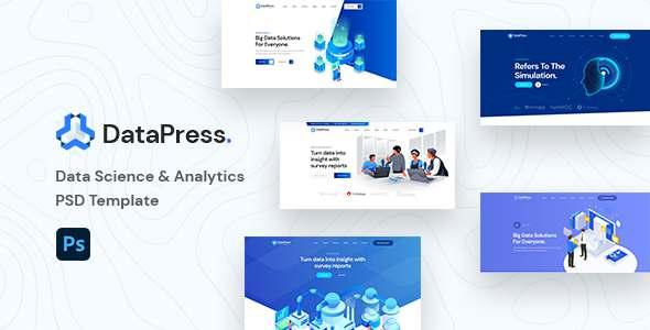 DatePress - Data Science amp Analytics PSD Template TFx