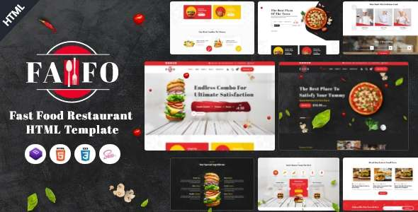 Fafo - Fast Food amp Restaurant HTML Template TFx