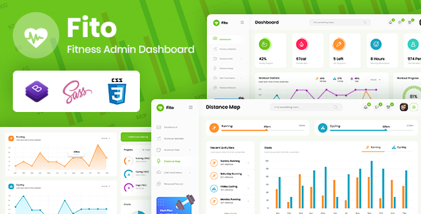 Fito – Fitness Admin Dashboard Template TFx