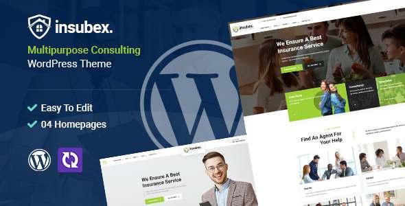 Insubex  Multipurpose Consulting WordPress Theme TFx
