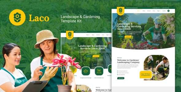 Laco - Landscape amp Gardening Elementor Template Kit TFx