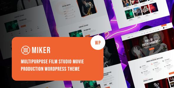 Miker - Movie and Film Studio WordPress Theme TFx