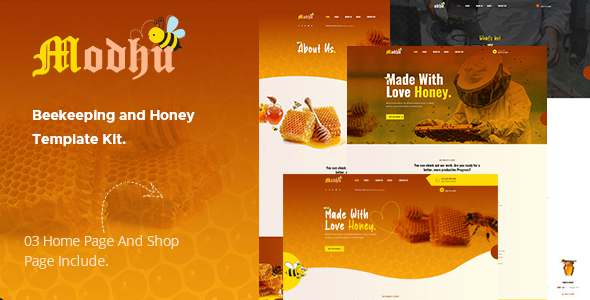 Modhu - Beekeeping amp Honey Elementor Template Kit TFx