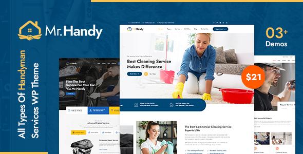 MrHandy  Handyman Services WordPress Theme TFx
