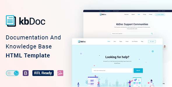 kbdoc - Documentation And Knowledge Base HTML5 Template with Helpdesk Forum TFx